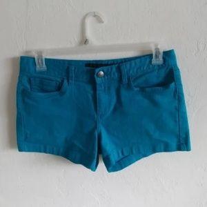 Calvin Klein Bright Teal Denim Classic Shorts Sz 8